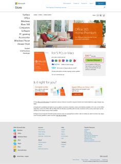 Office 365 Home Premium Product Page