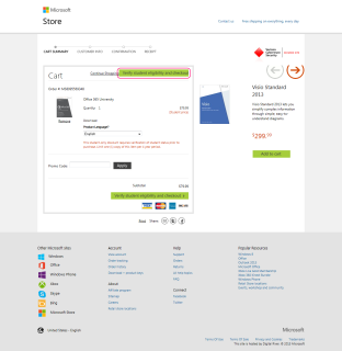 Office 365 University in Cart