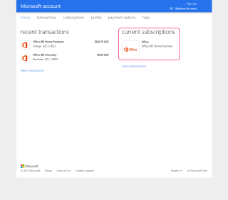 Purchase Log of Office 365 Subscriptions